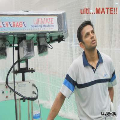 Rahul Dravid about Leverage Bowling Machines